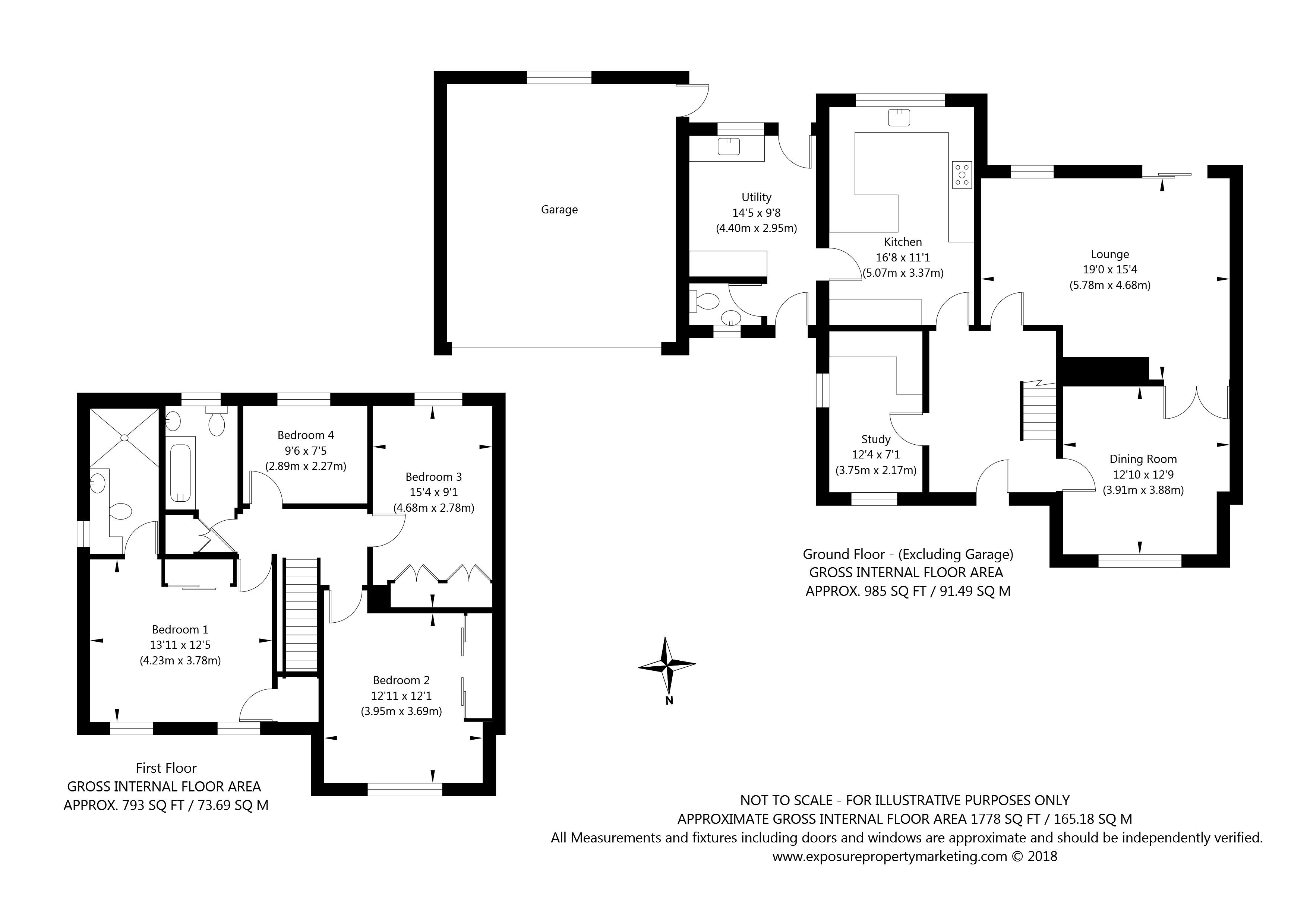 5 Newton Farm Court, Sutton on the Forest, York property floorplan