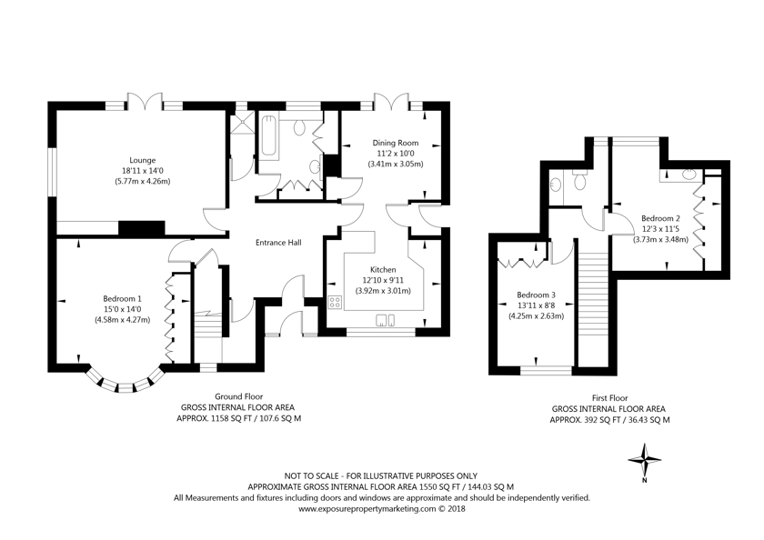 11 Lang Road, Bishopthorpe, York property floorplan