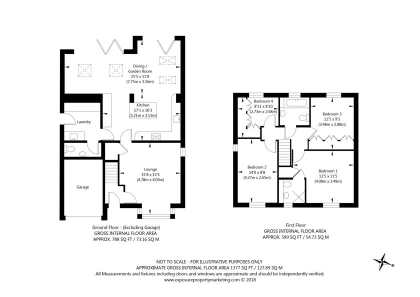 23 Hudson Close, Stamford Bridge, York property floorplan