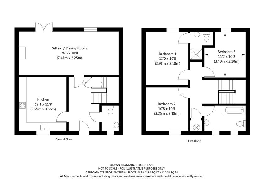 2  Mount Farm Mews, Chapel Lane, Westow, York property floorplan