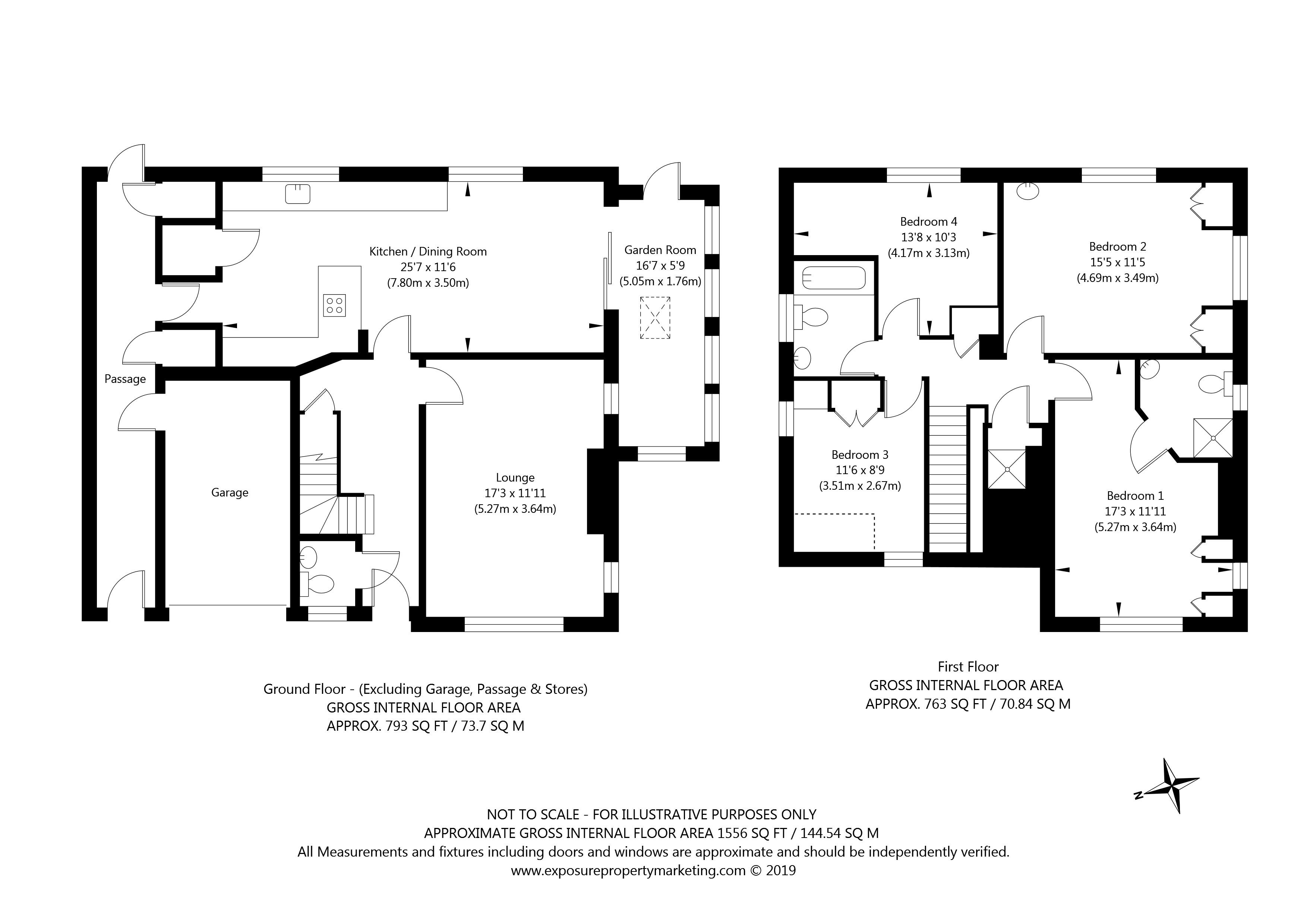 31 White House Gardens, York property floorplan