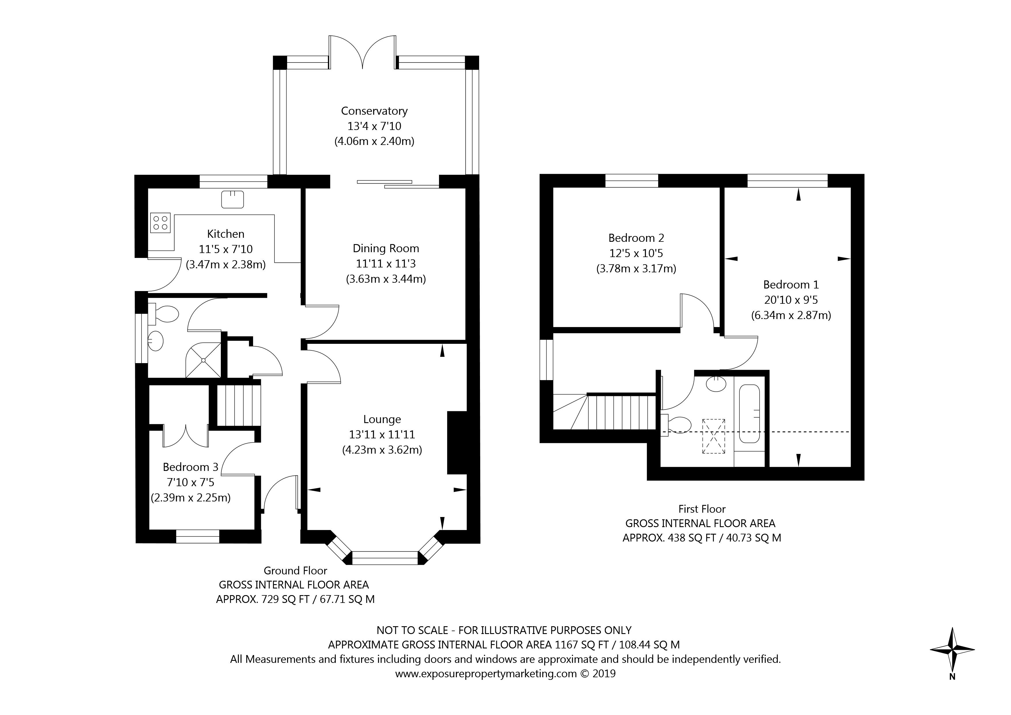 48 Broome Close, Huntington, York property floorplan