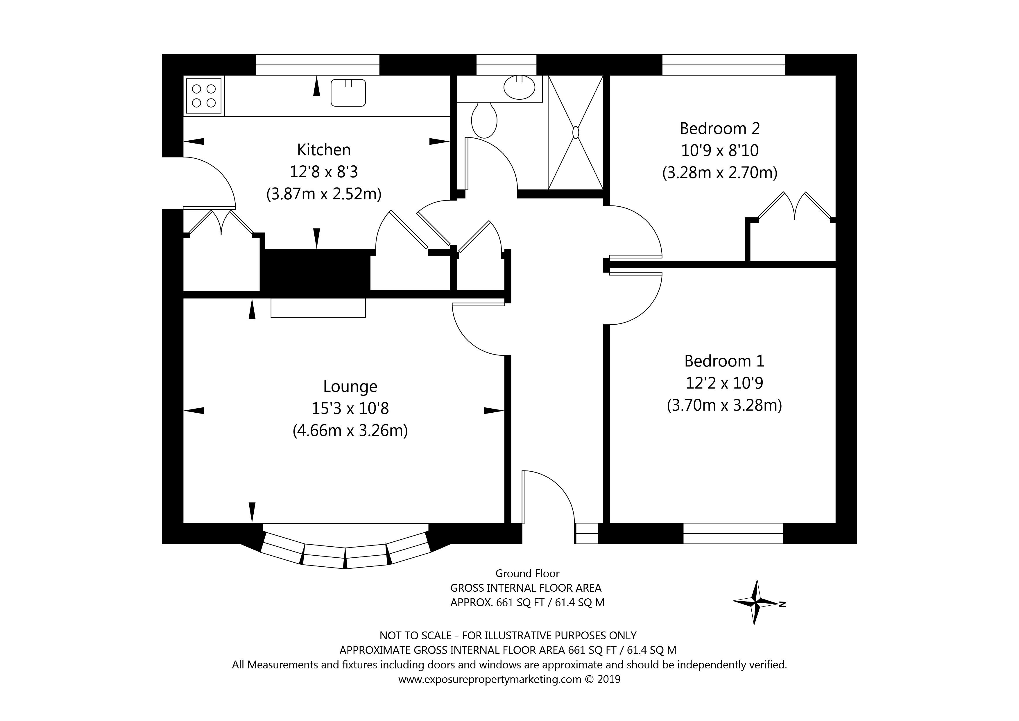60 New Lane, Huntington, York property floorplan