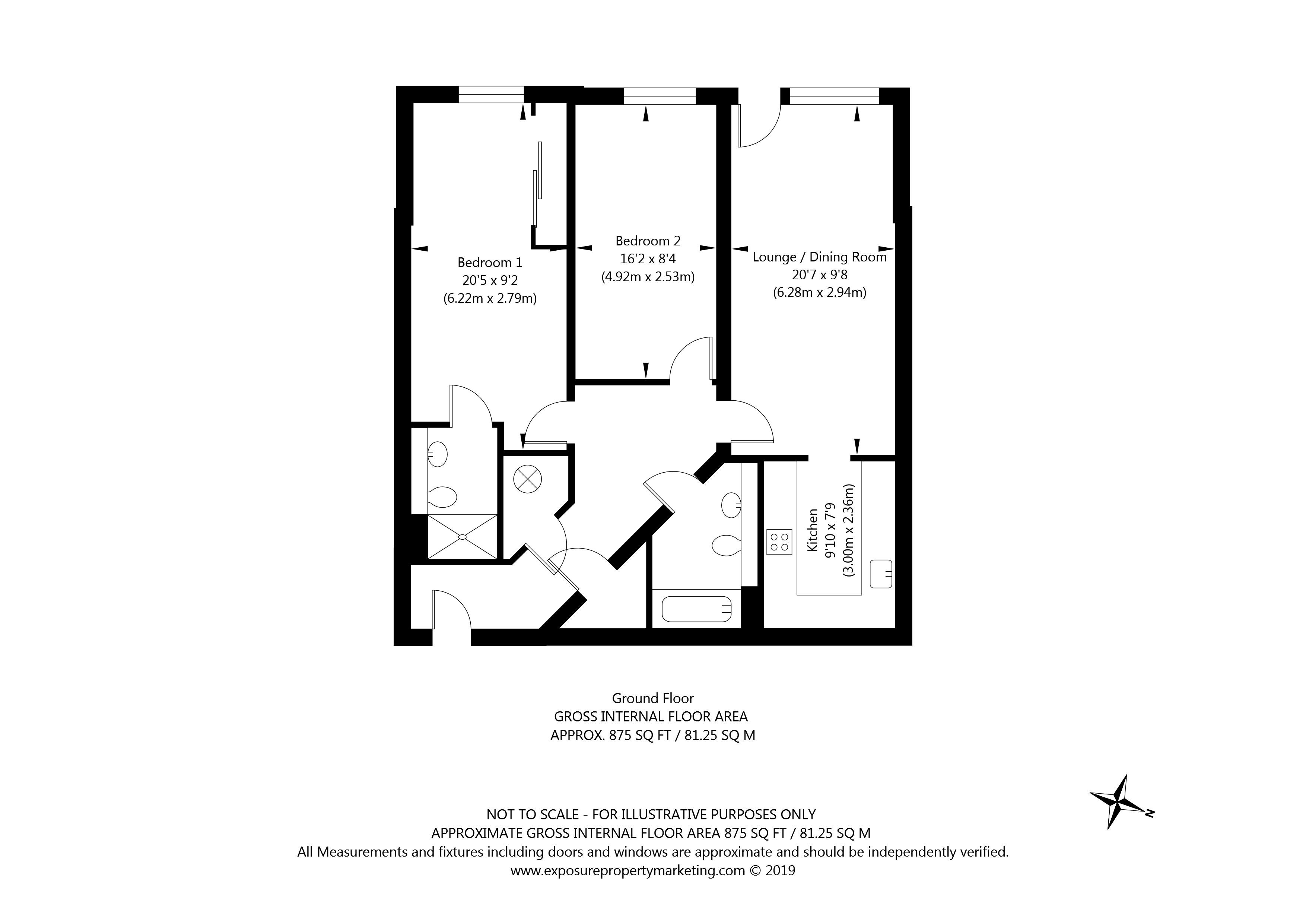 Apartment 4 Eboracum Way, York property floorplan