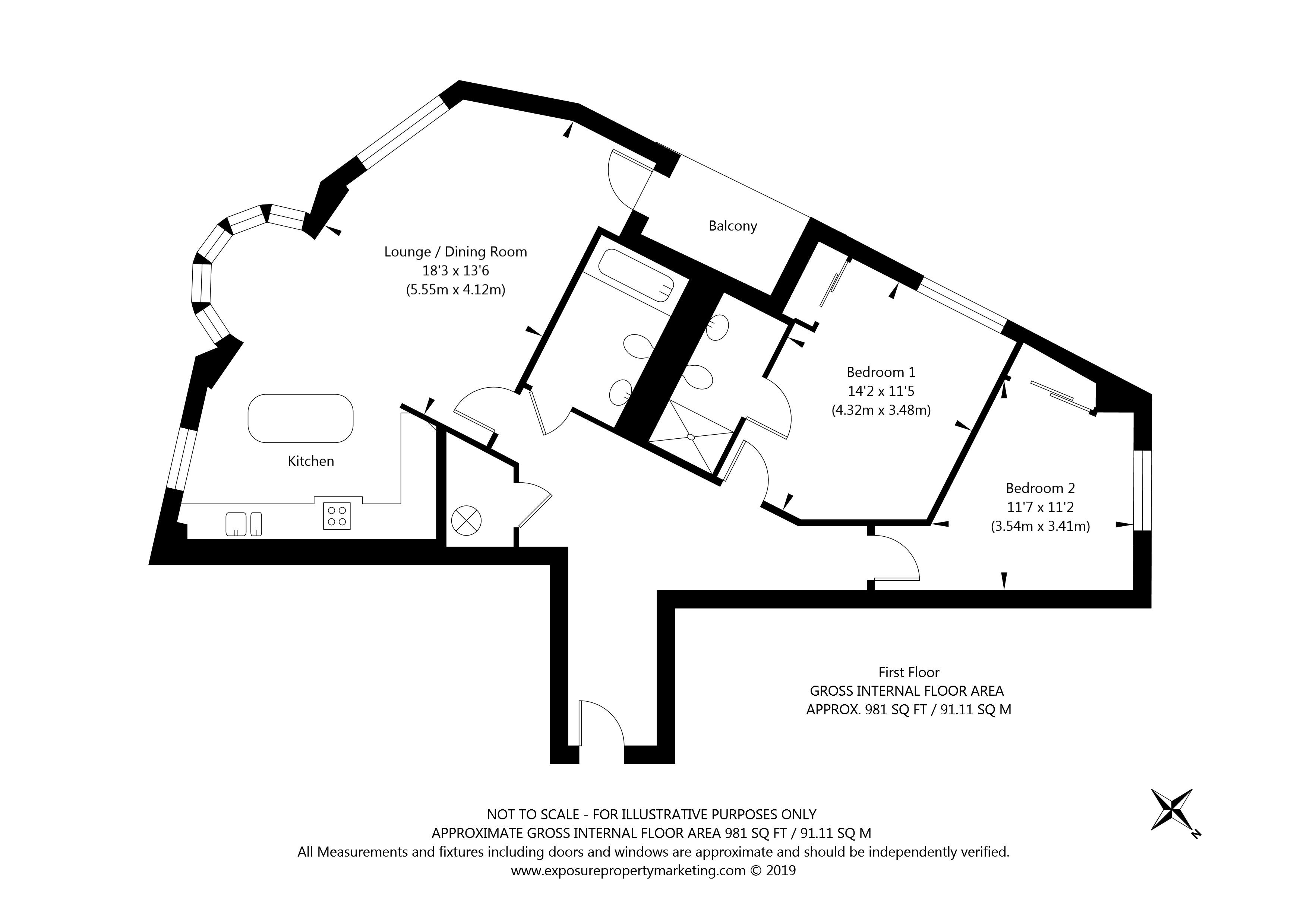 Flat 12 Merchantgate, York property floorplan