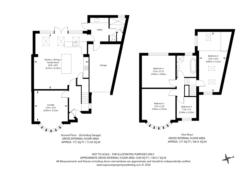 42 White House Gardens, York property floorplan