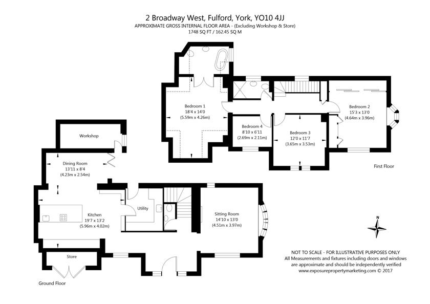 2 Broadway West, Fulford, York property floorplan