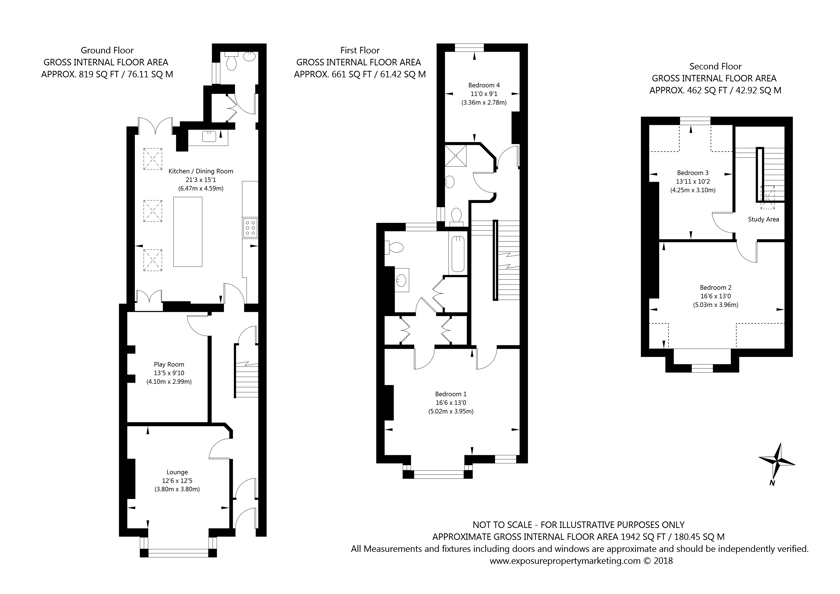 4 East Parade, York property floorplan