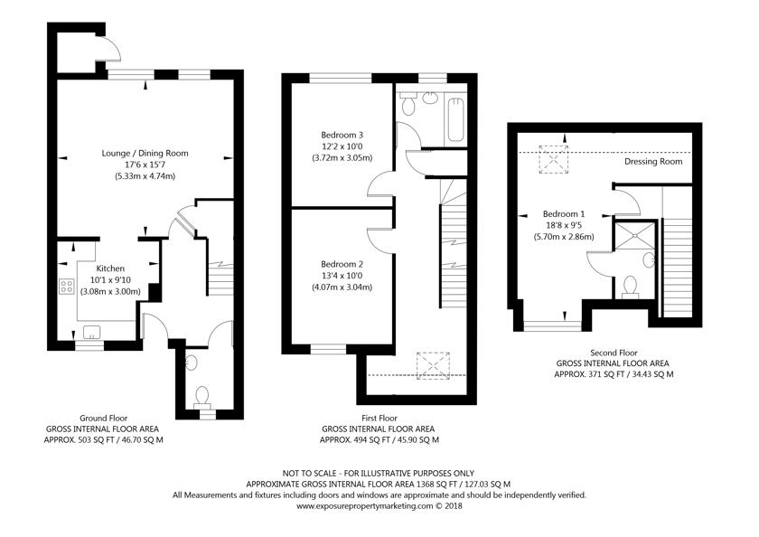 The Oak Derwent Way, York property floorplan