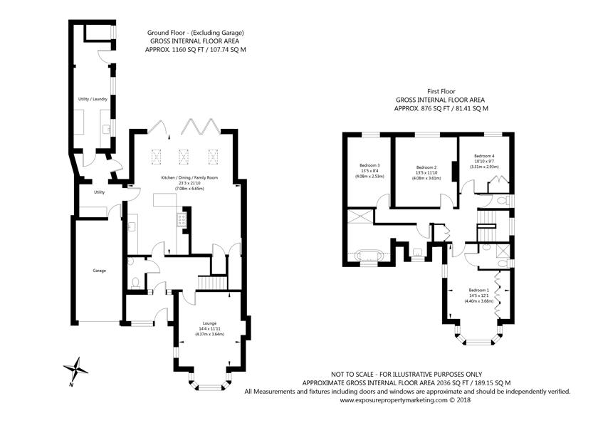 13 Westlands Grove, York property floorplan
