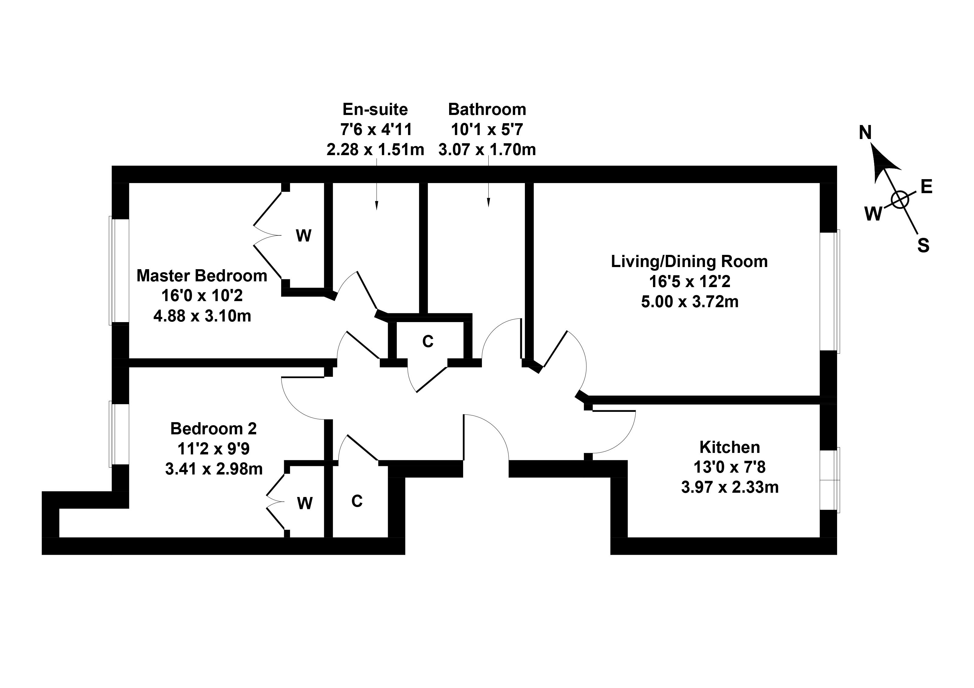 Floorplan 1 of 16/6, Murano Place, Leith, Edinburgh, EH7 5HG
