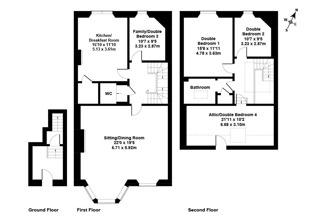 Floorplan 1 of 11 Dean Park Crescent, Stockbridge, Edinburgh, EH4 1PH