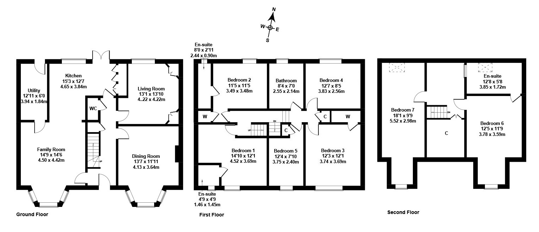 Floorplan 1 of 12 Glasgow Road, Corstorphine, Edinburgh, EH12 8HL