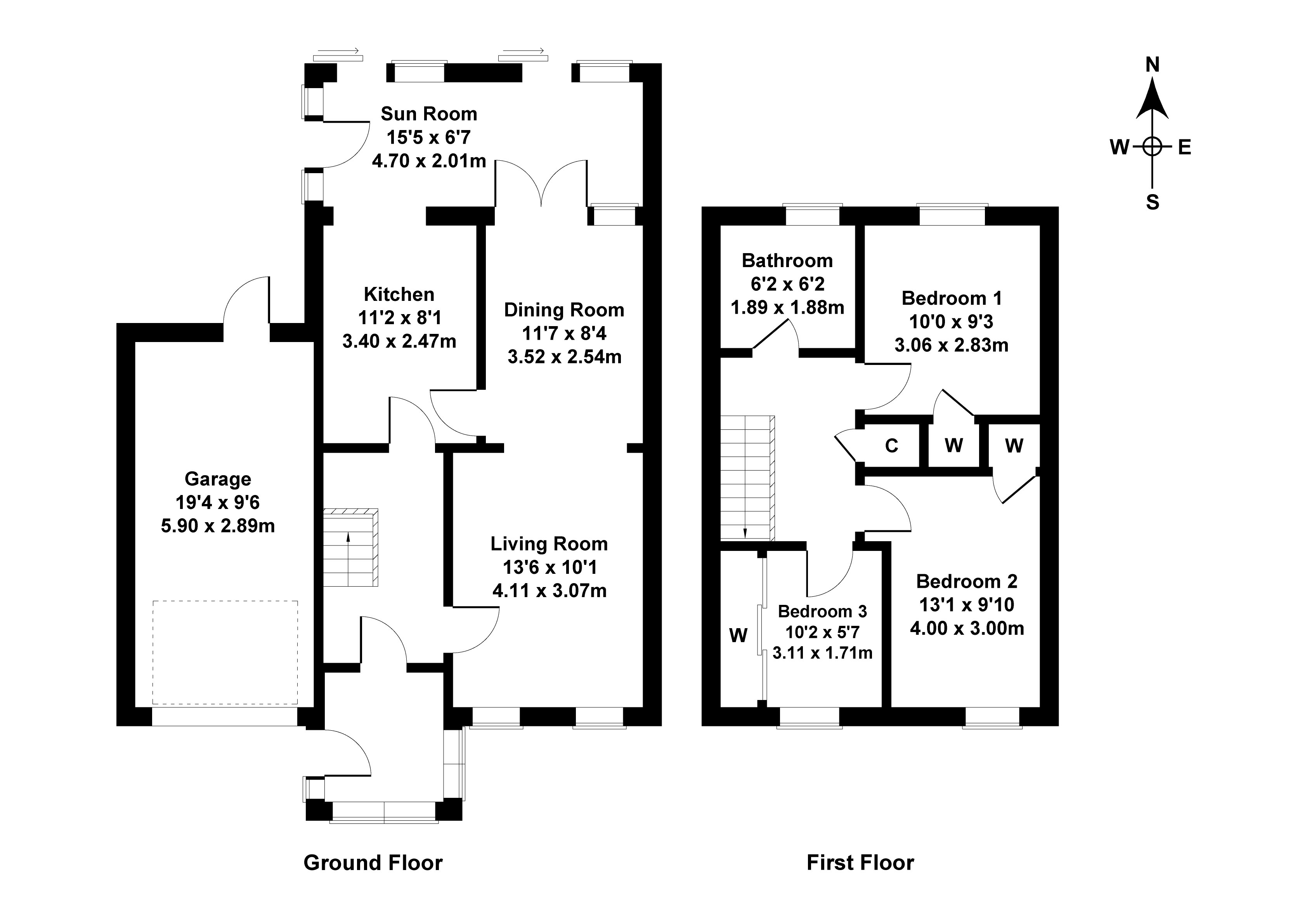 Floorplan 1 of 27 Kippielaw Walk, Easthouses, Dalkeith, Midlothian, EH22 4HS