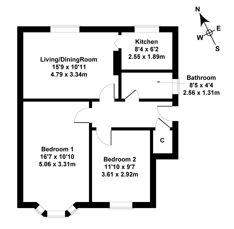 Floorplan 1 of 19 Carrick Knowe Road, Carrick Knowe, Edinburgh, EH12 7BE