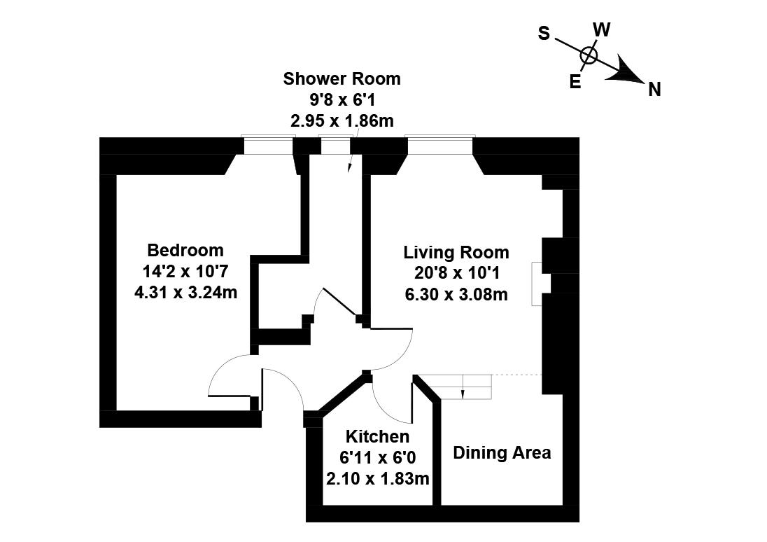 Floorplan 1 of 28/16, Wardlaw Place, Gorgie, Edinburgh, EH11 1UQ