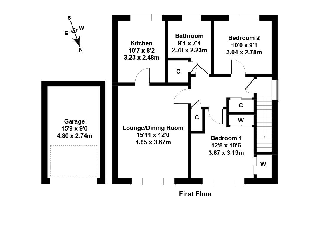 Floorplan 1 of 48 Cairns Drive, Balerno, Edinburgh, EH14 7HH