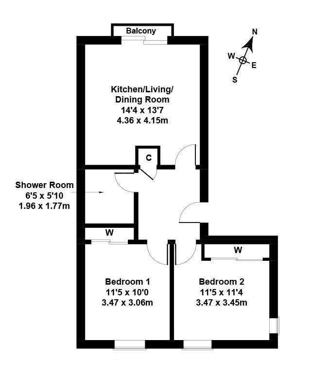 Floorplan 1 of 73a/5, Kirk Brae, Edinburgh, EH16 6JN
