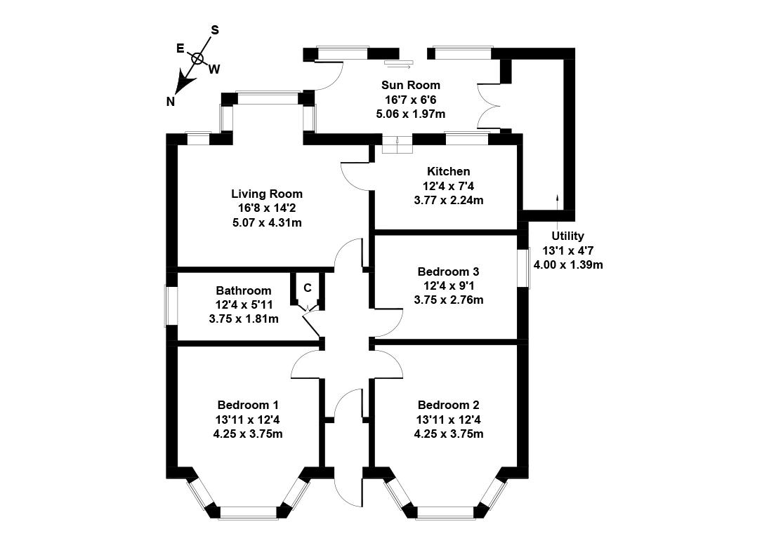 Floorplan 1 of 115 Lumphinnans Road, Lochgelly, Fife, KY5 9AP