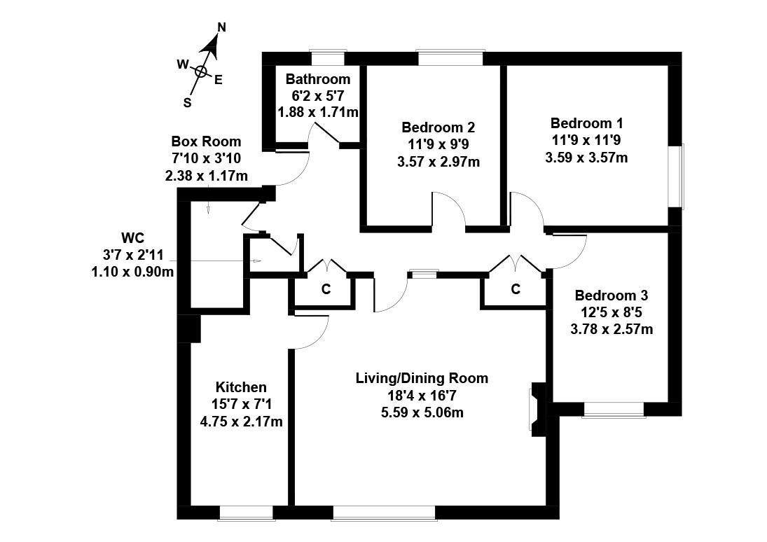 Floorplan 1 of 24/3, Parkgrove Road, Barnton, Edinburgh, EH4 7RR
