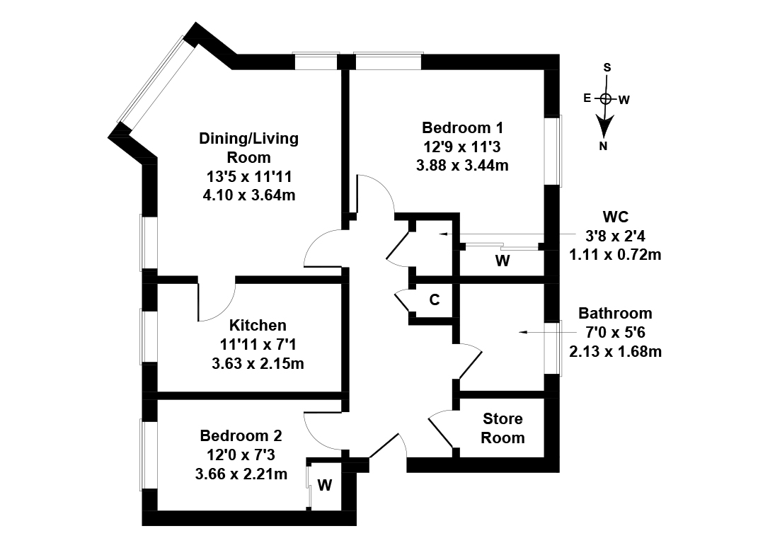 Floorplan 1 of 49/1, Clovenstone Gardens, Wester Hailes, Edinburgh, EH14 3HY