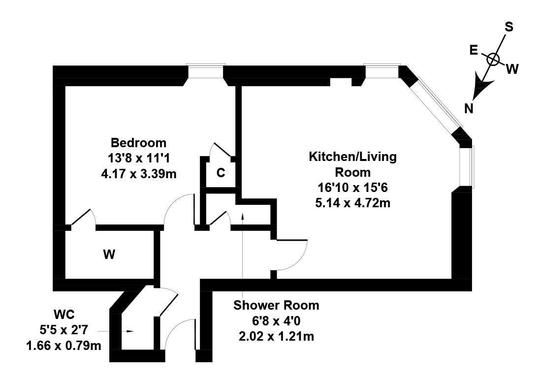 Floorplan 1 of 1/3F3, Yeaman Place, Polwarth, Edinburgh, EH11 1BR