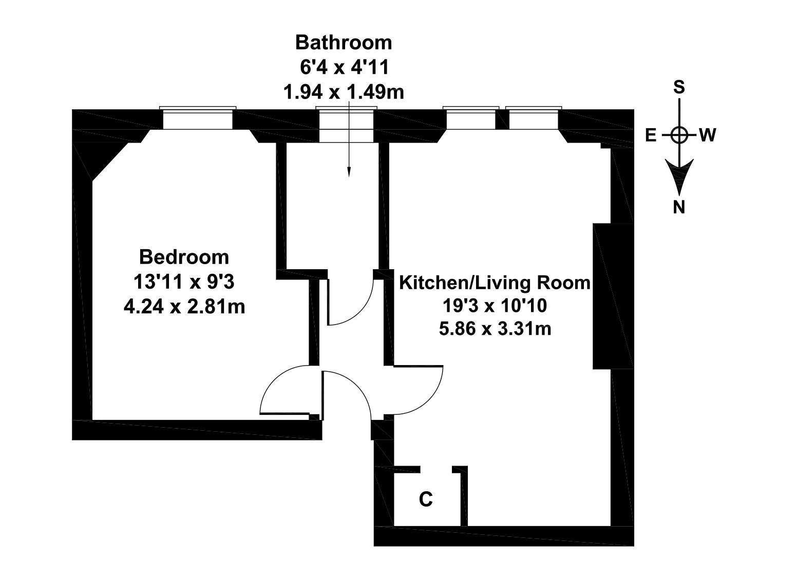 Floorplan 1 of 124/3, Gorgie Road, Gorgie, Edinburgh, EH11 2NR