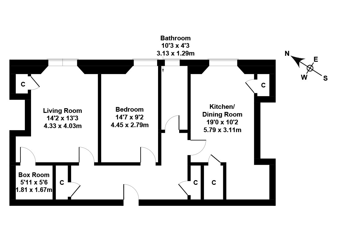 Floorplan 1 of 25/11 Bruntsfield Avenue, Bruntsfield, Edinburgh, EH10 4EN