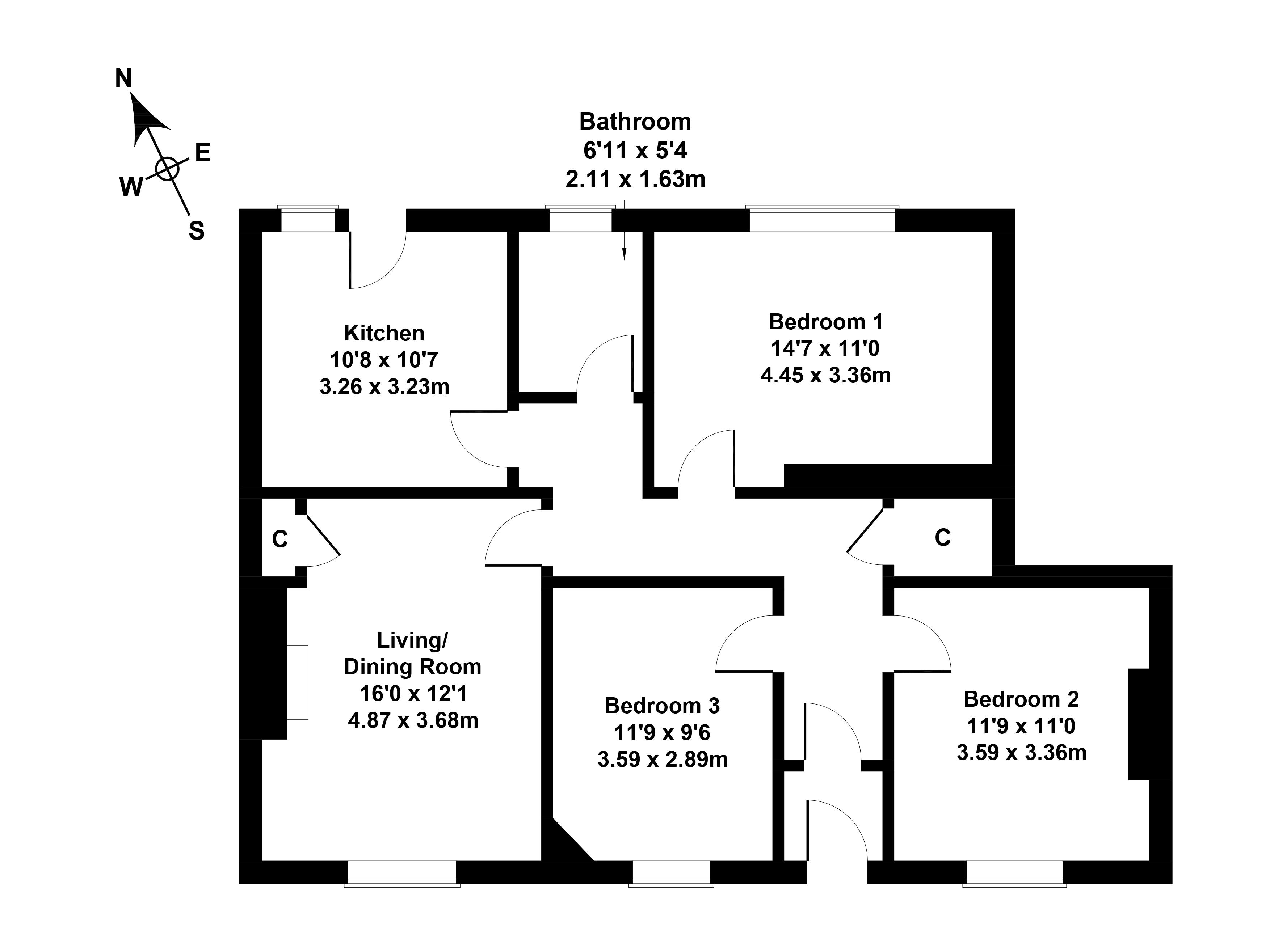 Floorplan 1 of 35 Spittalfield Crescent, Inverkeithing, Fife, KY11 1DT