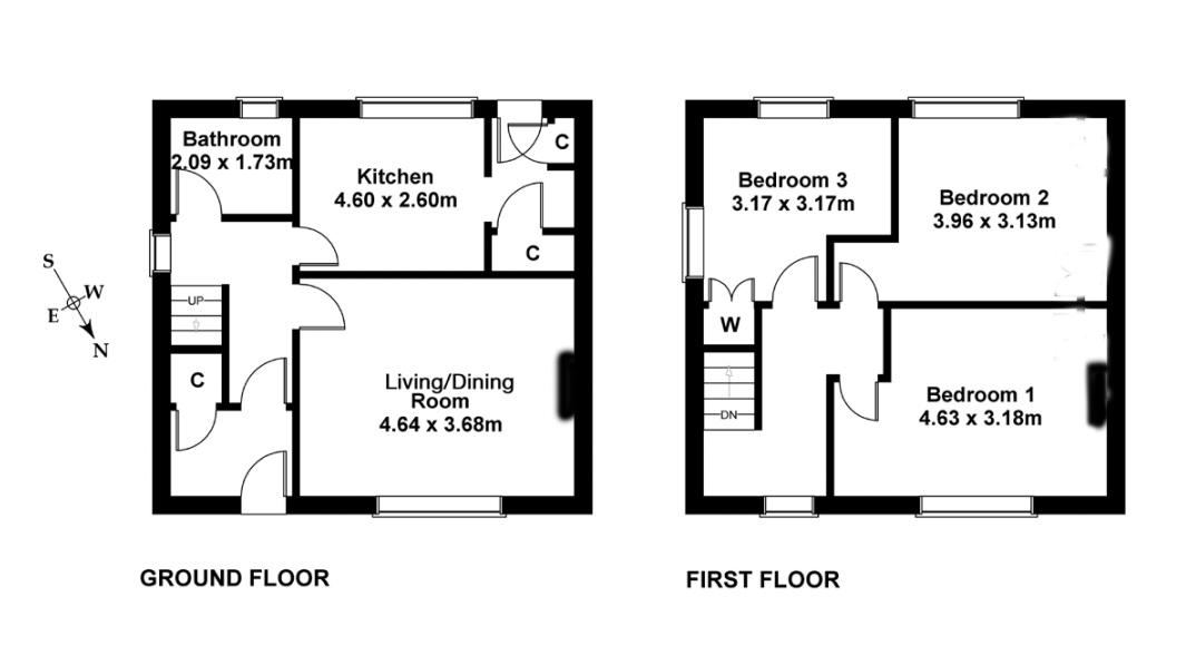 Floorplan 1 of 21 Craigour Crescent, Liberton, Edinburgh, EH17 7PL