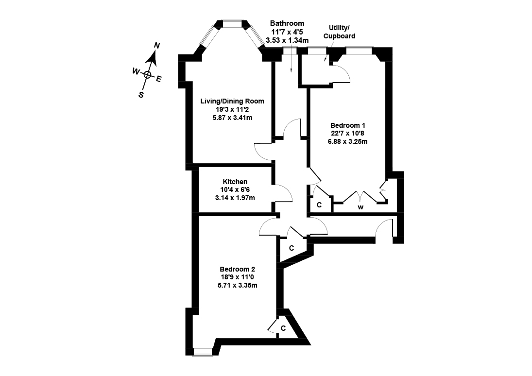 Floorplan 1 of 1F3, 31, Bruntsfield Avenue, Bruntsfield, Edinburgh, EH10 4EN