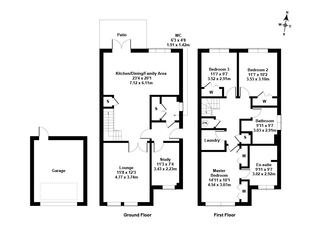 Floorplan 1 of 30 Kinleith Mill Road, Currie, City of Edinburgh, EH14 6AX