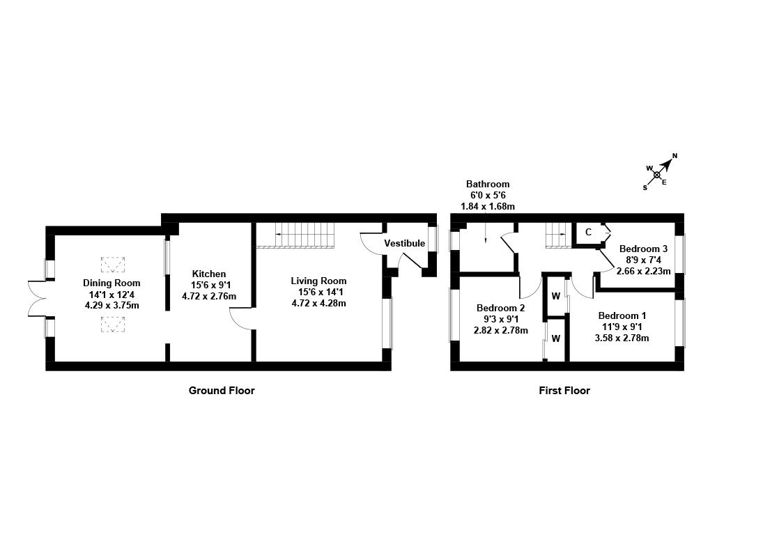 Floorplan 1 of 43 Clayknowes Avenue, Musselburgh, East Lothian, EH21 6UR