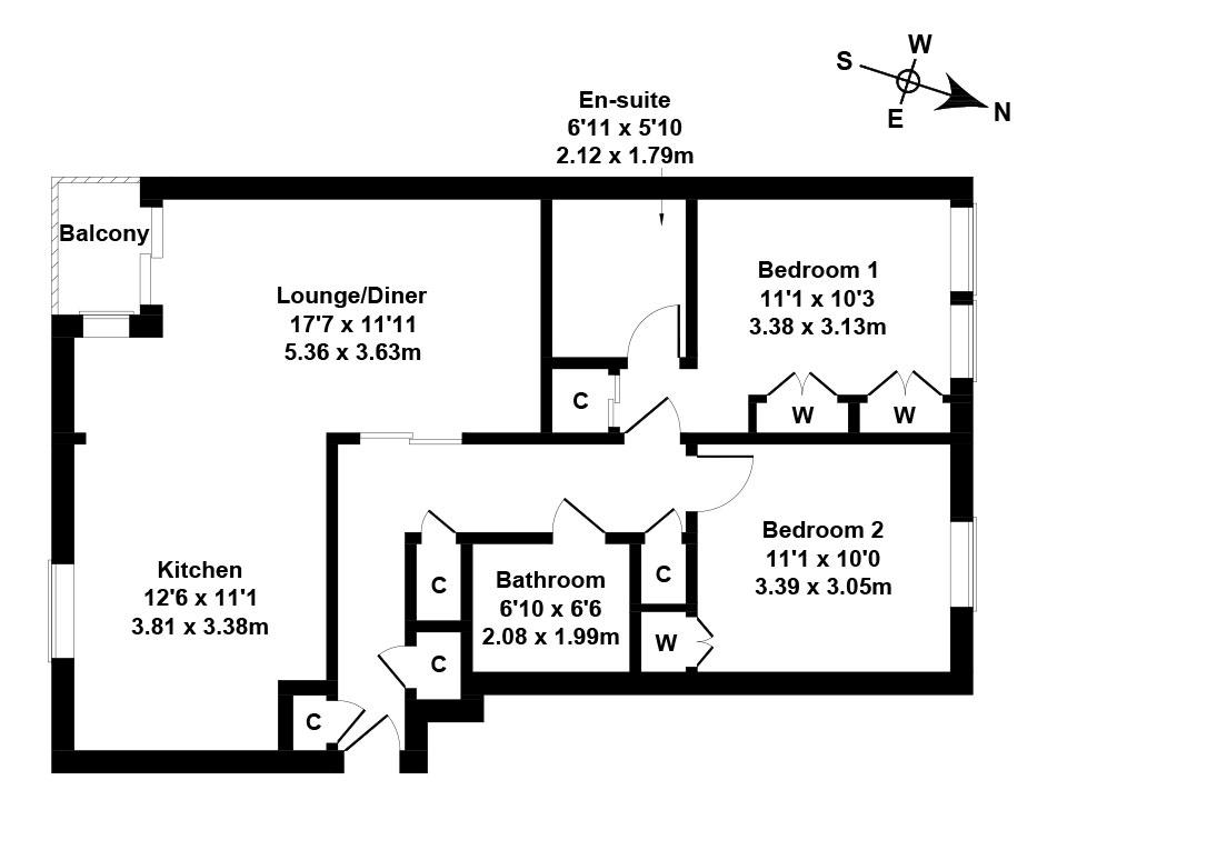 Floorplan 1 of 12/5, East Pilton Farm Avenue, Fettes, Edinburgh, EH5 2GB