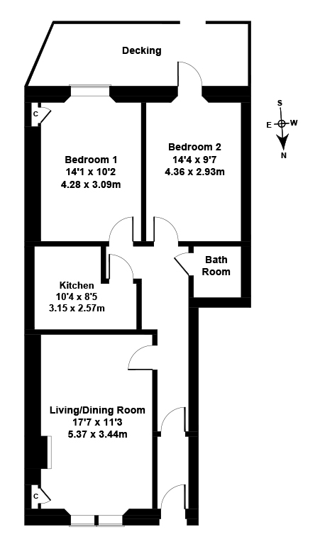 Floorplan 1 of 4 Roseneath Terrace, Marchmont, Edinburgh, EH9 1JN