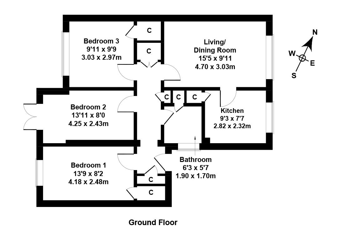Floorplan 1 of 12 Stewart Park, Cousland, Dalkeith, Midlothian, EH22 2PN