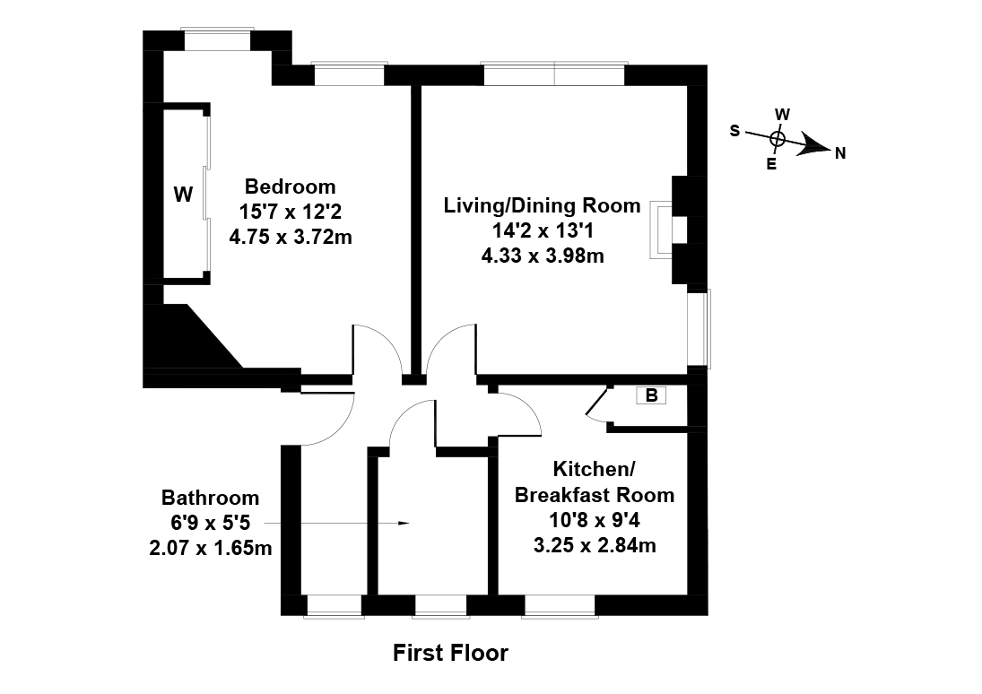 Floorplan 1 of 11/3, Whitson Grove, Balgreen, Edinburgh, EH11 3DT