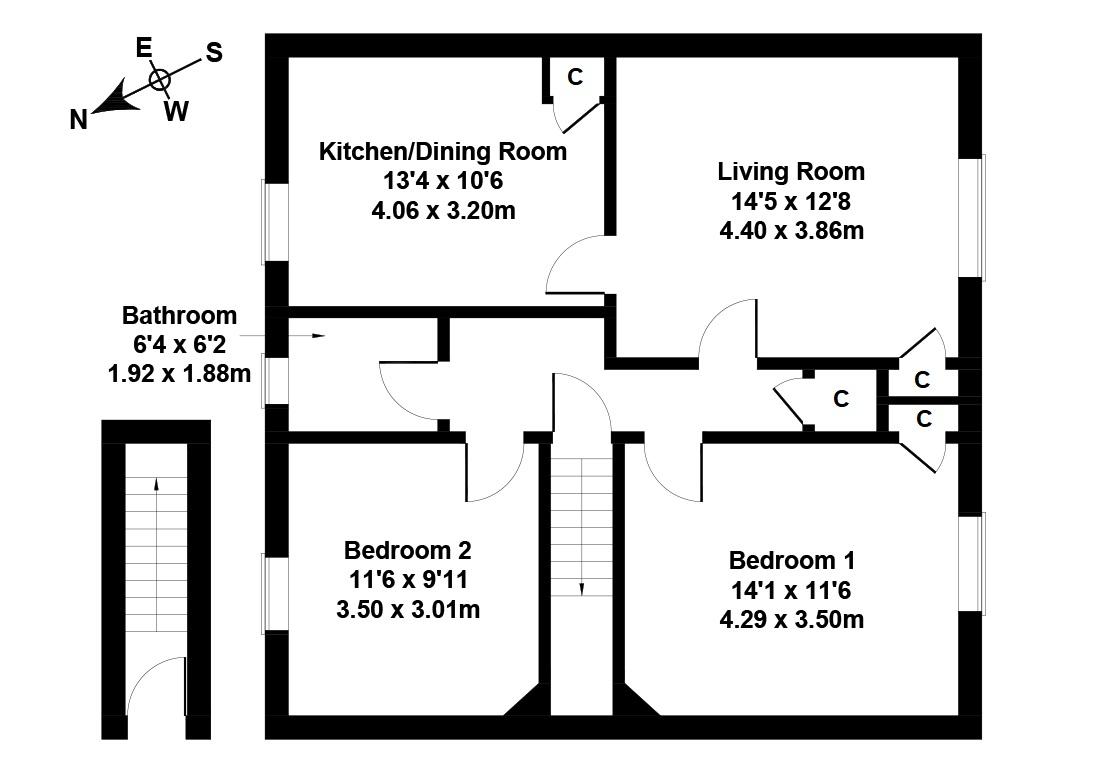Floorplan 1 of 31 Eskview Road, Musselburgh, East Lothian, EH21 6PA
