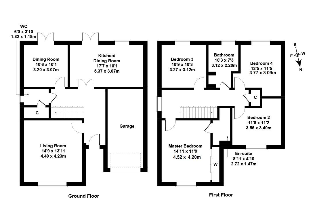 Floorplan 1 of 11 Meaford Avenue, Dunbar, East Lothian, EH42 1FG