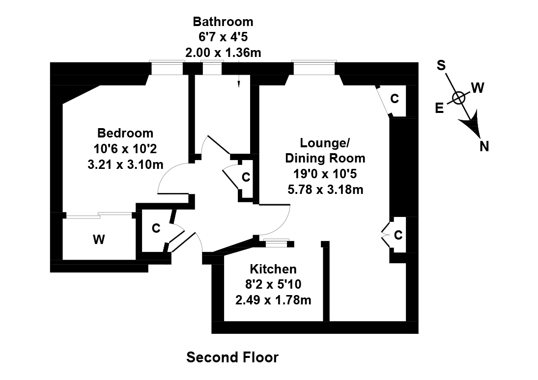 Floorplan 1 of 10/8, Moat Street, Slateford, Edinburgh, EH14 1PL