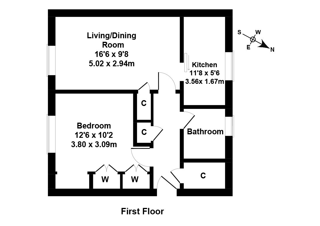 Floorplan 1 of 6/3, Oxgangs Gardens, Oxgangs, Edinburgh, EH13 9BE