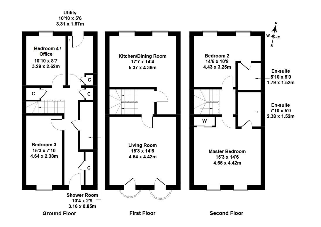 Floorplan 1 of  5 Glenarm Place, Edinburgh, EH6 4TQ