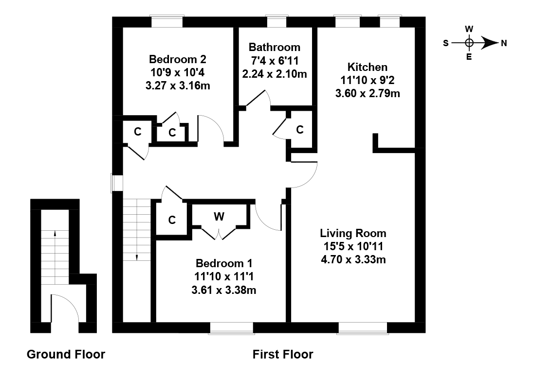 Floorplan 1 of 6 Castleview Drive, Craigmillar, Edinburgh, EH16 4BF