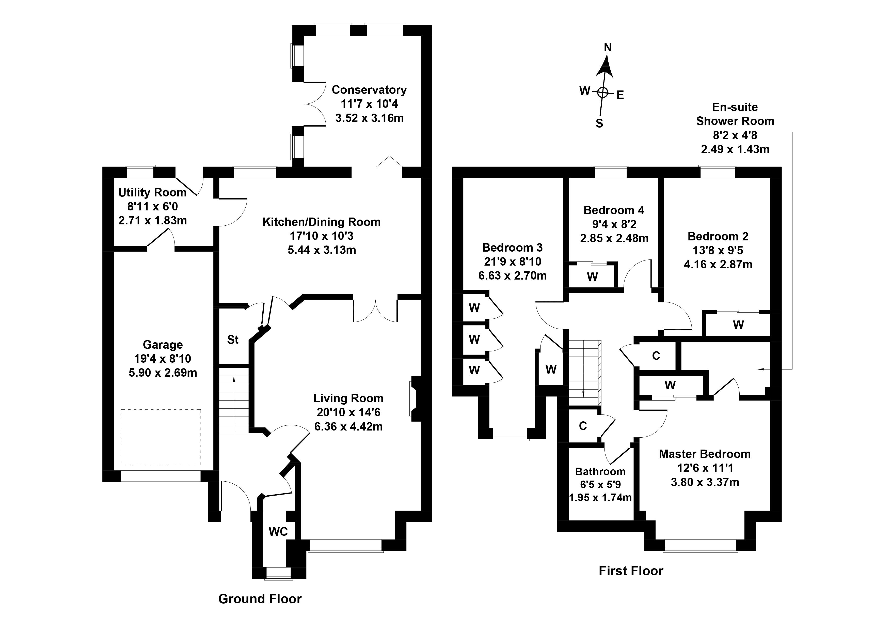 Floorplan 1 of 24 Hillhouse Wynd, Kirknewton, West Lothian, EH27 8BU