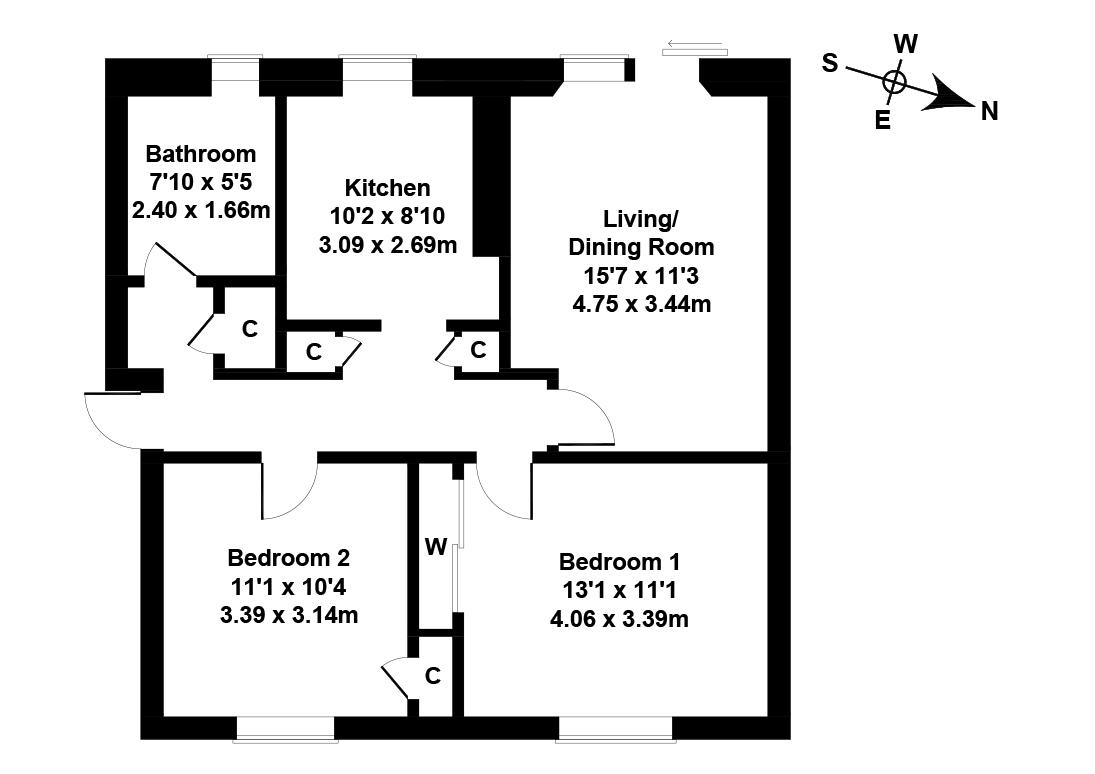 Floorplan 1 of 32/2, Redhall Gardens, Redhall , Edinburgh, EH14 2DR