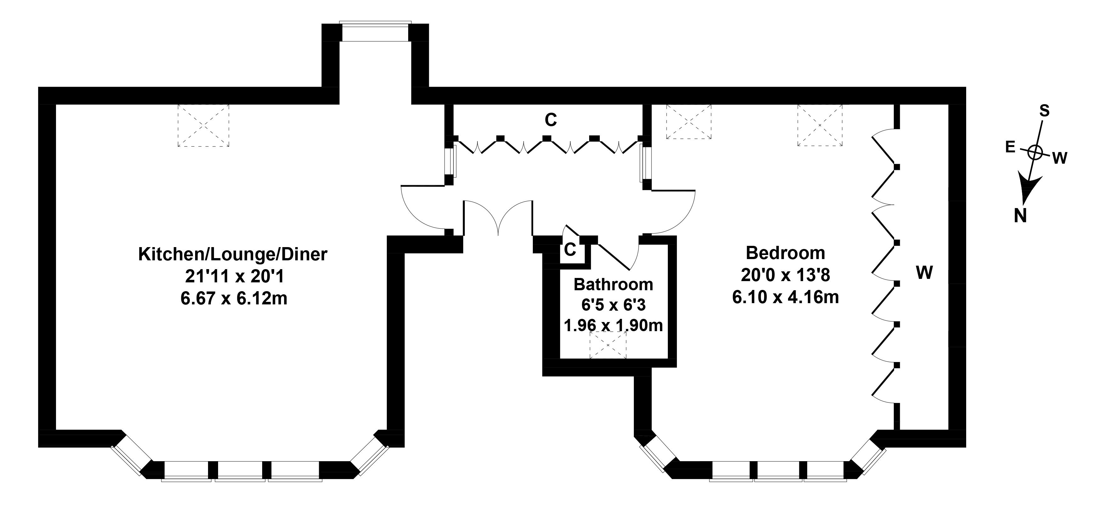 Floorplan 1 of 25/7, Eyre Place, New Town, Edinburgh, EH3 5EX