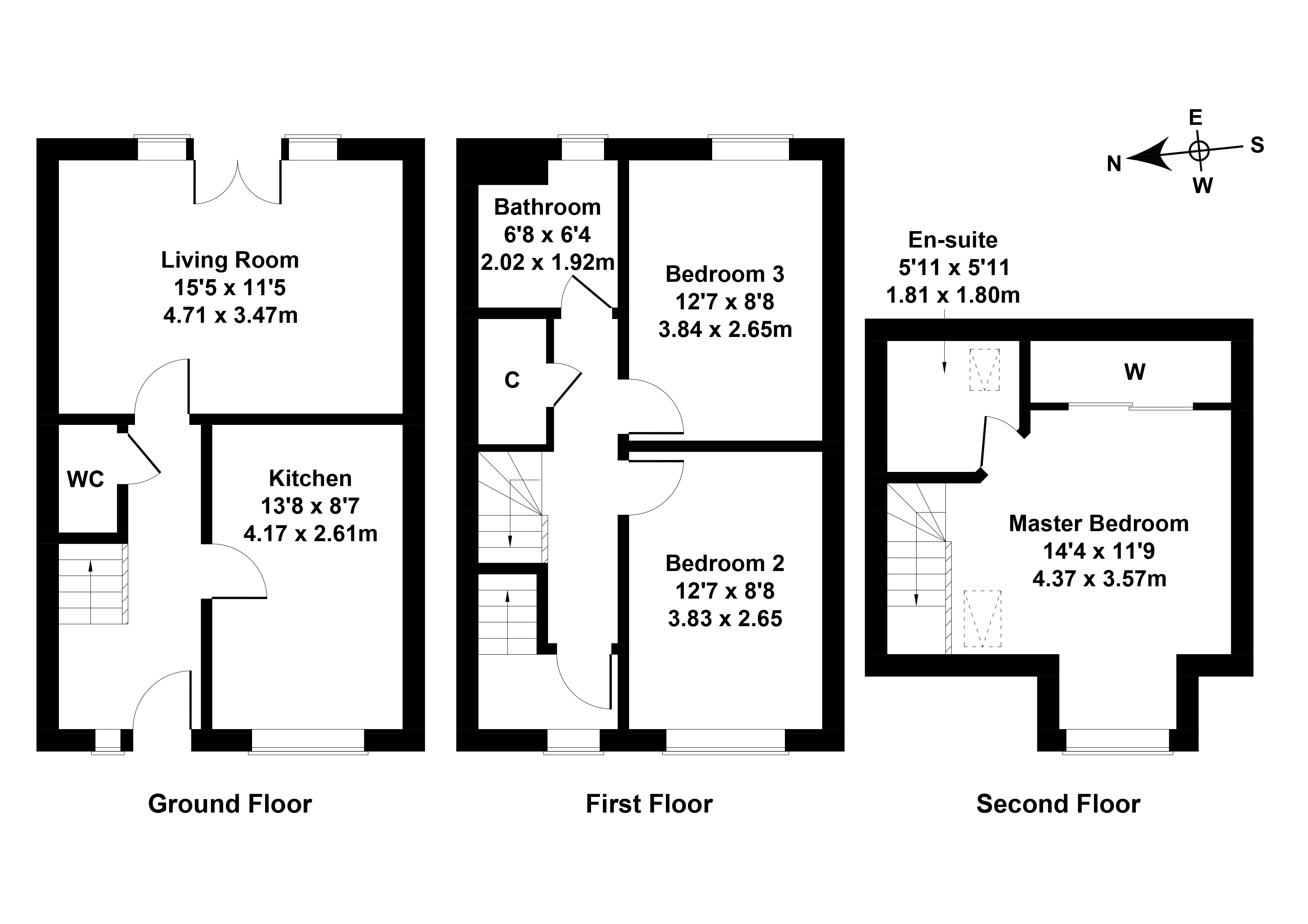 Floorplan 1 of 16 Cranston Avenue, Airdrie, North Lanarkshire, ML6 7FD