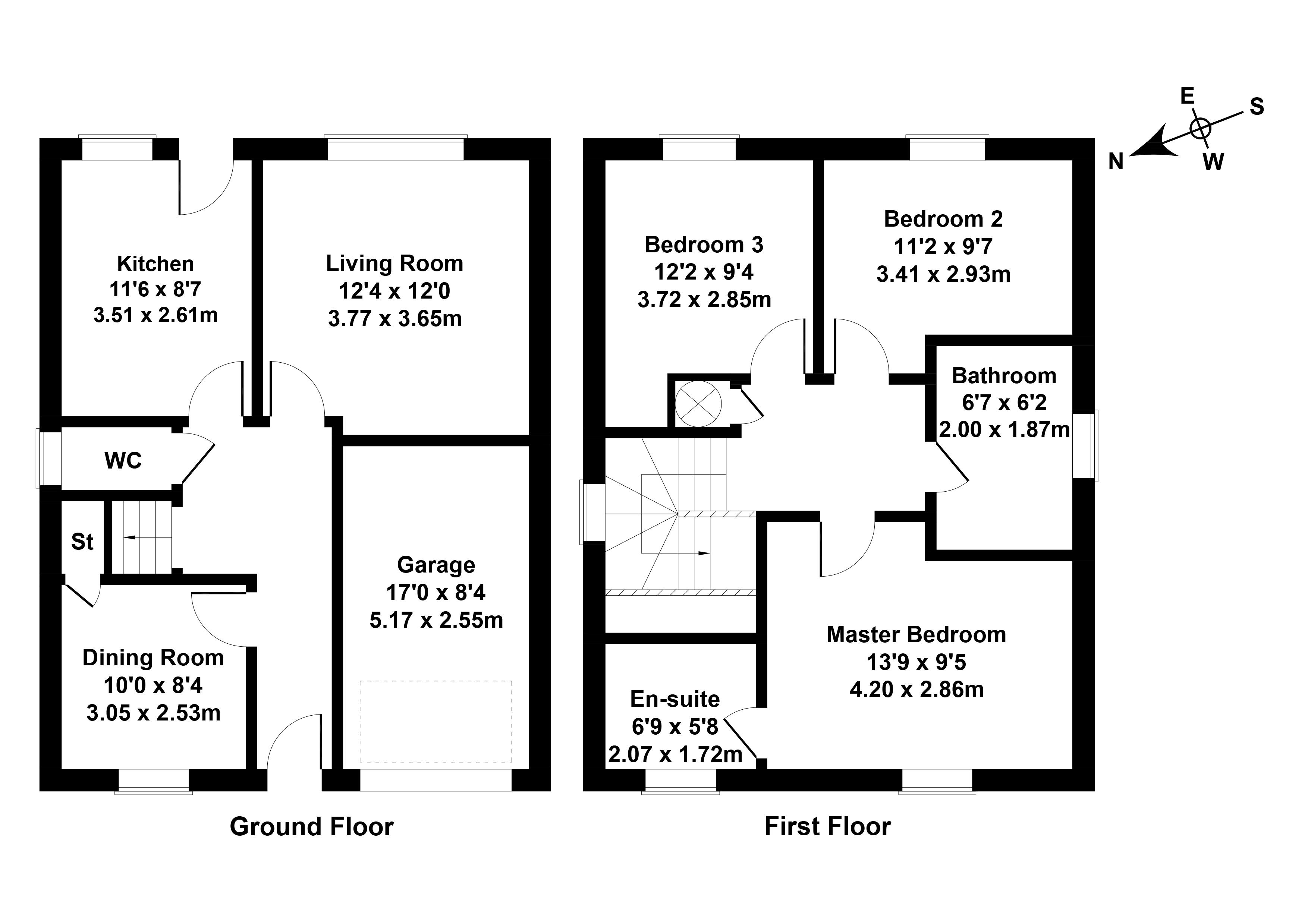 Floorplan 1 of 7 South Quarry Gardens, Gorebridge, Midlothian, EH23 4GX