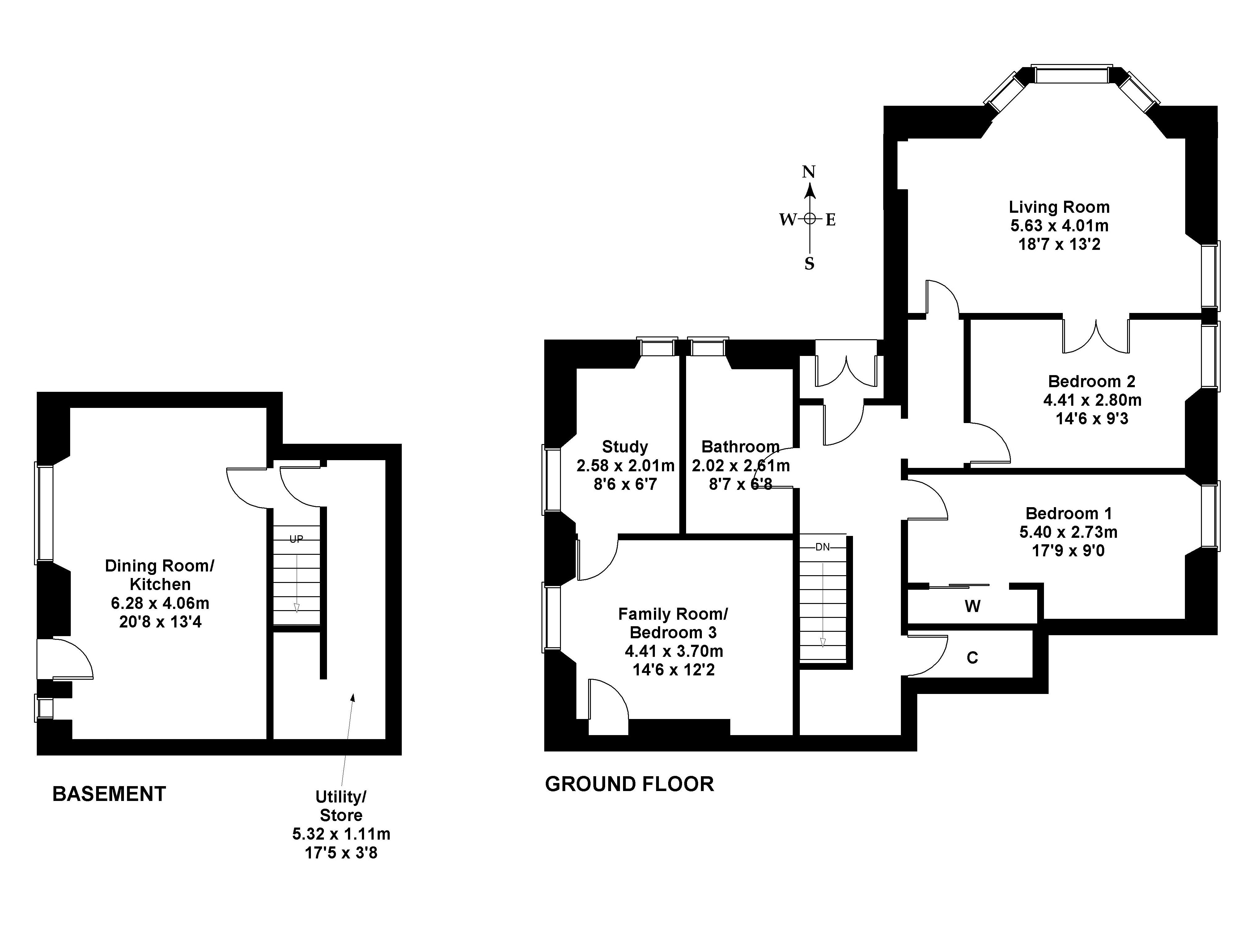 Floorplan 1 of 13 Brights Crescent, Edinburgh, EH9 2DD