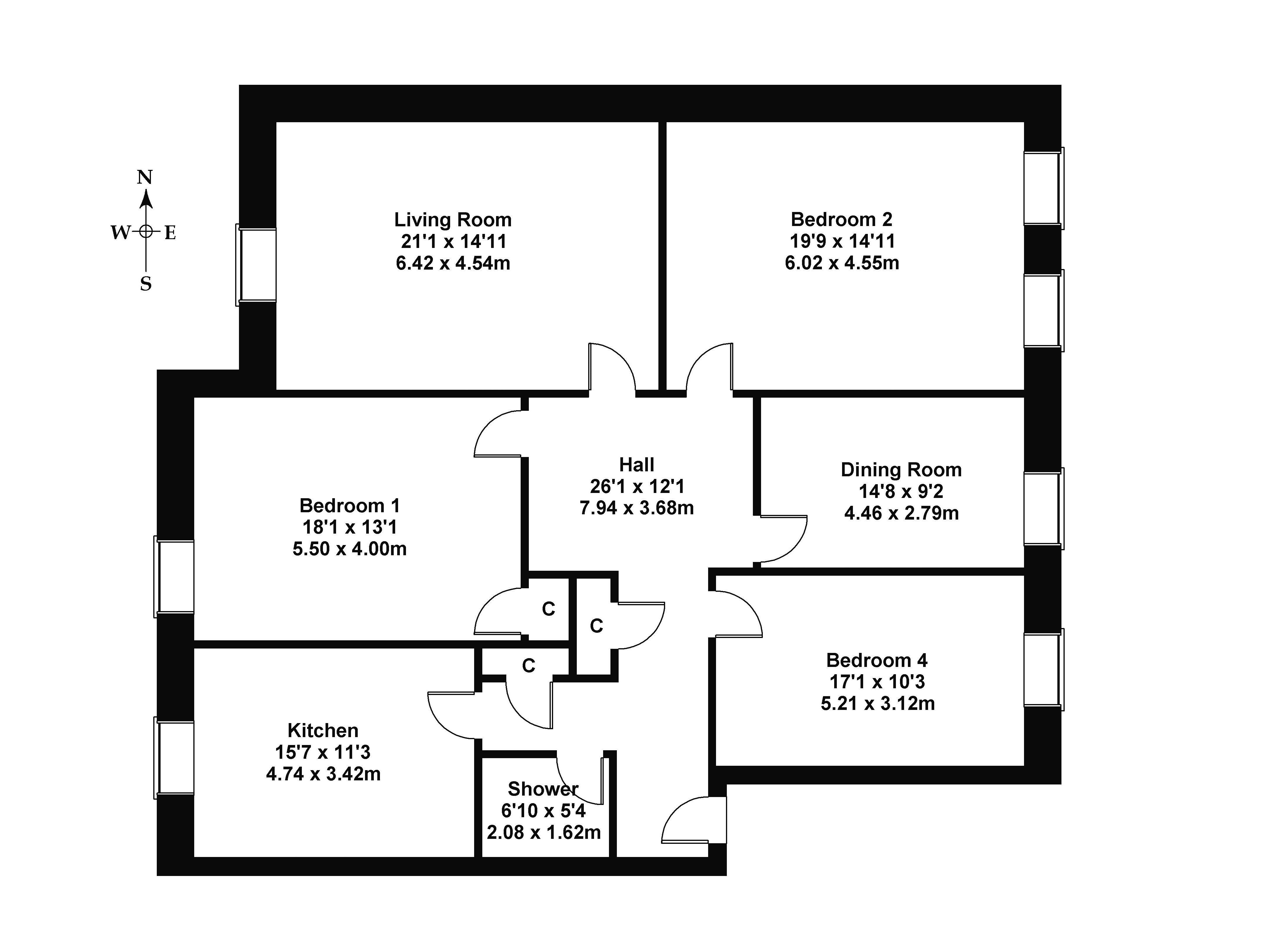 Floorplan 1 of 94/5 Dundas Street, Edinburgh, City Of Edinburgh, EH3 6RQ
